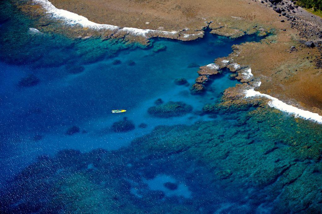 Ilhas Fiji, - vista aérea da Ilha Yasawa