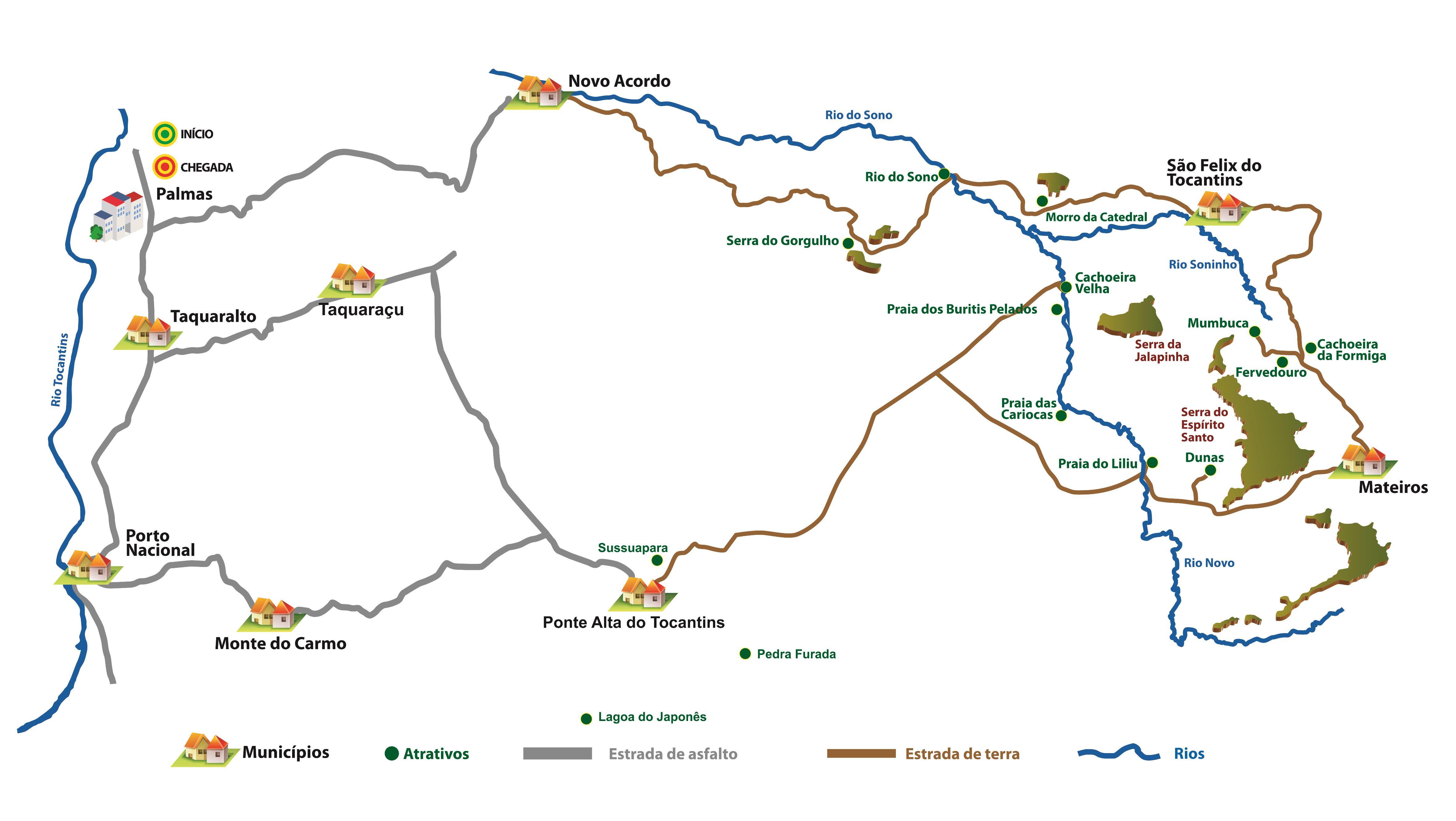 Mapa Jalapão Tocantins - Como ir ao Jalapão? Tire aqui suas dúvidas!
