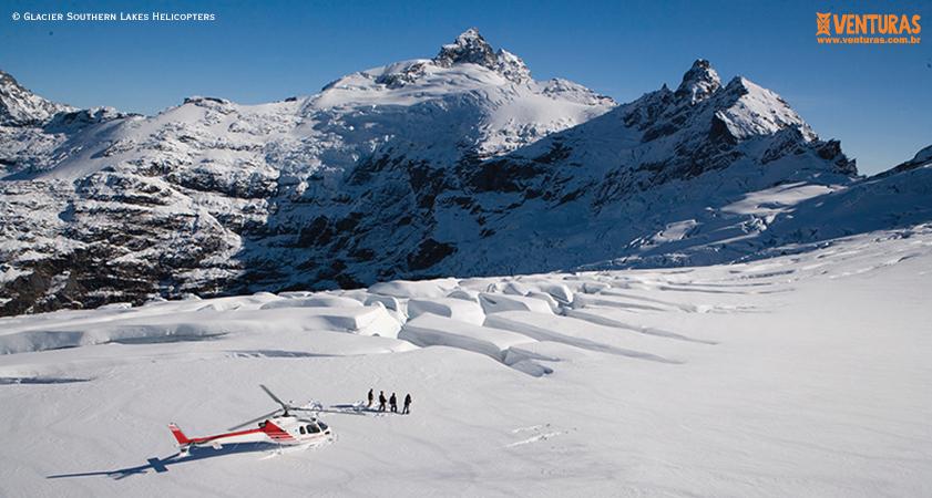 Nova Zelândia Glacier Southern Lakes Helicopters 01 - Nova Zelândia - Onde uma experiência leva à outra